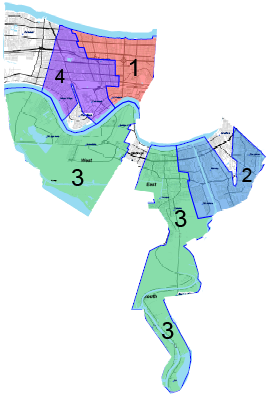 Jefferson Parish district map
